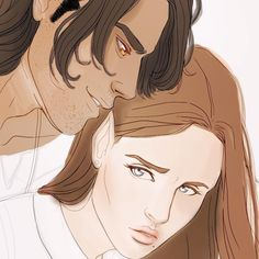 Nesta and Cassian A Court Of Wings And Ruin, A Court Of Mist And Fury, Crown Of Thrones, Feyre And Rhysand, Sara J Maas, Sarah J Maas Books, Fanart, Throne Of Glass Series, Crescent City