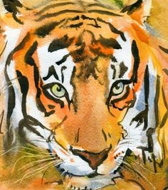 #882 Tiger Watercolor - Uptown Art Uncorked
