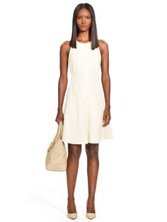 Lambskin Samone Dress - Black Label  Short Dresses - RalphLauren.com