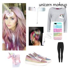 """Rainbow outfit (contest)"" by chickenlickenpopcorn on Polyvore featuring beauty, Accessorize, Boohoo, Current Mood, Casetify, adidas Originals and Minna Parikka"