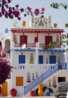 Il mondo a colori: i palazzi più allegri del pianeta Mykonos - Grecia
