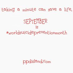 Today - Taking a minute can change a life