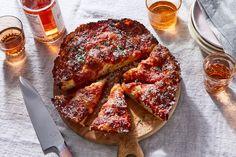 Crispy Cheesy Pan Pizza Recipe From King Arthur Flour Recipe on Food52 Flour Recipes, Pizza Recipes, Cooking Recipes, Vegan Recipes, Chili Cheese Fries, Baking Company, King Arthur Flour, Deep Dish, Food 52