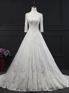 Custom Made Easy Wedding Dresses A-Line Princess Wedding Dress,Off The Shoulder Wedding Dress,Bridal Dress With Sleeves Wedding Dresses 2018, Formal Dresses For Weddings, Princess Wedding Dresses, Wedding Dress Styles, Bridal Dresses, Bridesmaid Dresses, Party Dresses, Wedding Dress Sleeves, Dresses With Sleeves