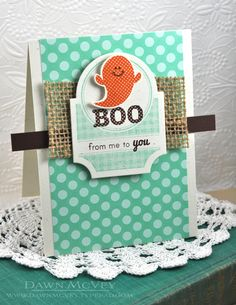 Boo From Me To You Card by Dawn McVey for Papertrey Ink (August 2013)