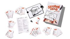 Skribble Head is a guessing game with laughs all around. Use it to liven up any party or lazy afternoon. See how well you draw a blind doodle on a board attached to your noodle.