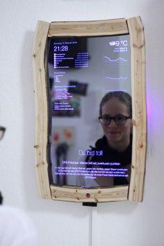Magic Mirror mit Gestensteuerung - W Technology Pi Projects, Arduino Projects, Electronics Projects, High Tech Gadgets, Cool Gadgets, Diy Tech, Smart Home Technology, Magic Mirror, Cool Inventions