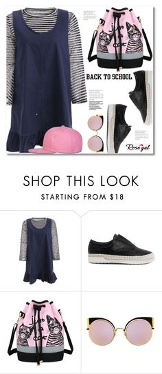 """Rosegal"" by svijetlana ❤ liked on Polyvore featuring Fendi, backpack and inmybackpack"