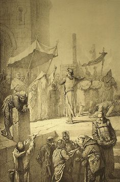 ❤ - Mihály Zichy - Illustration to Imre Madách's The Tragedy of Man: In Constantinople (Scene 1887 Istanbul, Egypt, Drawings, Illustration, Painting, Artists, Ideas, Landscapes, Painting Art