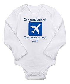 Take a look at this White Airplane Long-Sleeve Bodysuit - Infant on zulily today!