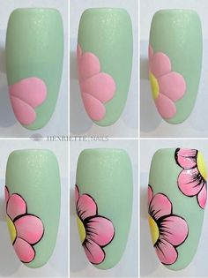 Acrylic False Almond Nails Designs Art In Summer With Fresh And Vibrant - Keep creating beauty and warm home, Find more happiness in daily life Nail Art Blog, Nail Art Hacks, Nail Art Diy, Diy Nails, Swag Nails, Manicure, Grunge Nails, Shellac Nails, Glitter Nails