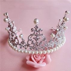 Aliexpress.com : Buy New Arrival Vintage Pearl Crystal Tiara Best Quality Sparkly Wedding Bridal hair Tiara Silver plated women hair Crown XB129 from Reliable hair form suppliers on Kay's Wedding | Alibaba Group