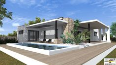 Simple Bungalow House Designs, Best Modern House Design, Modern Bungalow House, Design Your Dream House, Small House Design, Interior Design Your Home, Facade House, House Layouts, Little Houses