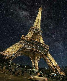The Eiffel Tower, Paris. Photo by: Explore. Torre Eiffel Paris, Paris Eiffel Tower, France Photos, Paris Photos, Places To Travel, Places To Go, Destination Voyage, Tours, Night Photos