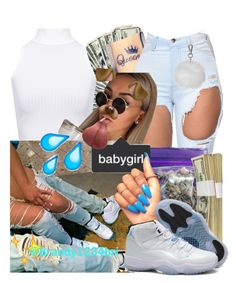 """ wit bae™"" by brandylovebrandy ❤ liked on Polyvore featuring WearAll, INC International Concepts, Retrò and Topshop"