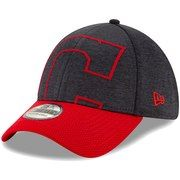 low priced f8598 30dcf Men s Cleveland Indians New Era Navy Red Stadium Collection Overshadow  39THIRTY Flex Hat