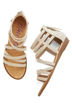 Couldn't Be Better Sandal in Sand. Up with the sun, youre feeling positively cheerful as you head out the door in these beige sandals from Blowfish! #cream #modcloth