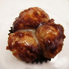Monkey Muffins   2 pkgs refrigerated biscuit dough, cut into thirds  1 stick of butter  1 cup of brown sugar  1 Tablespoon Ground Cinnamon  1 small can of sweetened condensed milk