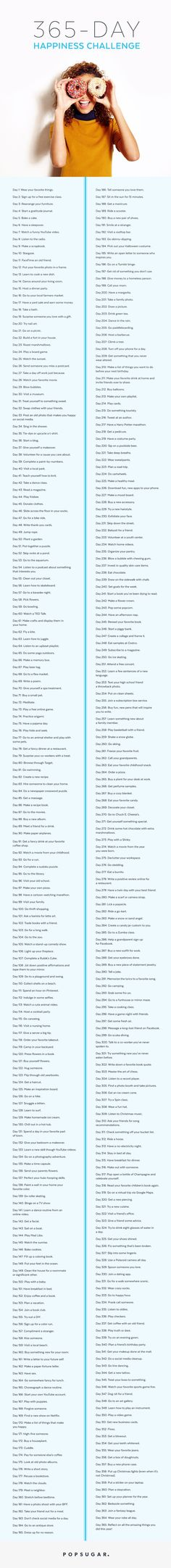 Pin for Later: The 365-Day Happiness Challenge Guaranteed to Change Your Life