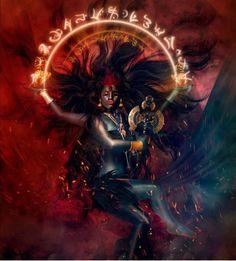 Jai Maa Saraswati Goddess, Kali Goddess, Goddess Art, Mother Goddess, Shiva Hindu, Shiva Art, Hindu Art, Black Power, Mother Kali