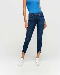 Ankle Skinny Wave Hem - Fletcher Drive – A Style Studio Jeans Boyfriend, Mom Jeans, Jean Parfait, Best Fashion Blogs, Jean Crafts, Nordstrom, Girl Bottoms, Plus Size Pants, Denim Shop