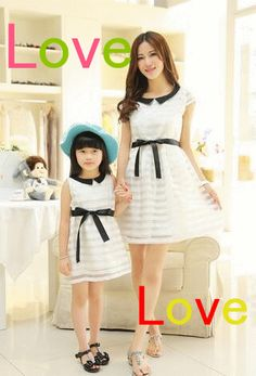 afe921c2d1 High Quality Matching Mother Daughter Clothes Summer Dress Bow Lace O Neck  Princess Mom And Daughter Dress Ohemian Vest Dress Funny Matching Outfits  ...