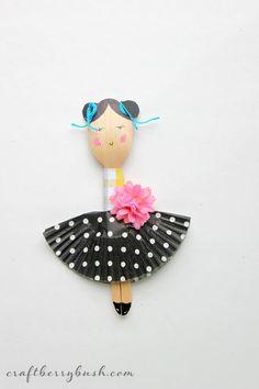 Fashion wooden spoon dolls by Craftberry Bush | so so fab
