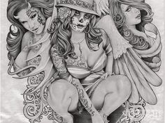Gangster Angel Drawing | Displaying 9> Images For - Gangster Chicano Tattoos...