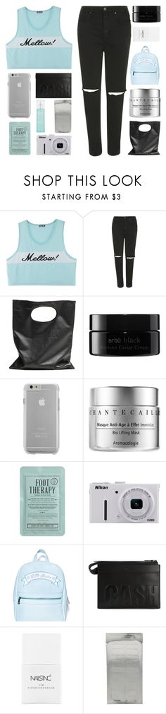 """YOU BROUGHT THE FLAMES"" by constellation-s ❤ liked on Polyvore featuring Topshop, Cheap Monday, arbÅ«, Case-Mate, Chantecaille, Kocostar, Nikon, Sugarbaby, 3.1 Phillip Lim and Nails Inc."