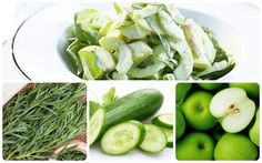 Салат из яблок и огурцов