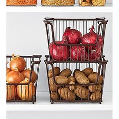 The Container Store > Large York Open Stack Basket