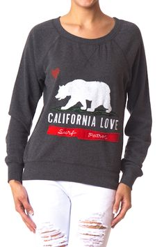 Crew Neck California Sweat Shirt  $12.99. this sweatshirt is very cute with the white pants