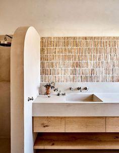 salle de bain terracotta