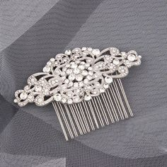 Your place to buy and sell all things handmade Hair Comb Wedding, Bridal Hair, Perfect Bride, Bride Hair Accessories, Bride Hairstyles, Hair Piece, Vintage Inspired, Crystals, Hair Styles