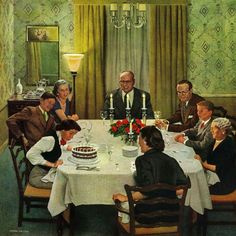 Marmont Hill Family Birthday Party John Falter Painting Print on Canvas