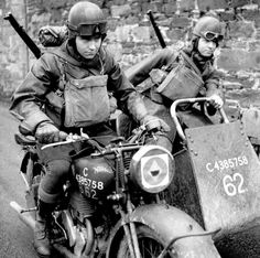 Reconnaissance riders of the 4th Battalion, Northamptonshire Regiment, ca. WWII