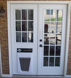 French doors with doggie door built in wood french doors replace sliding glass door with dog door planetlyrics Gallery