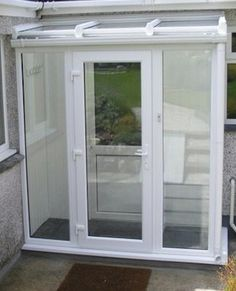Made to Measure Full Height Lean-to Porch Front Door Porch, Porch Doors, Back Doors, Upvc Porches, Sas Entree, Lean To Conservatory, Glass Porch, Glass Roof, Basement Entrance
