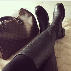 LV bag and Gucci boot!