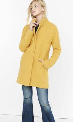 Textured Cocoon Coat | Express