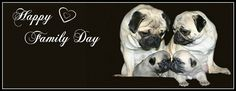 Pug Holiday Themed Facebook Cover Photos For Your Timeline. Pug Happy Family Day Facebook Cover Photo