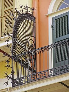 Fabulous ironwork on a French Quarter balcony, New Orleans, Louisiana