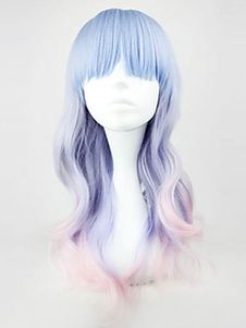 You can never miss these fancy cosplay shoes, uk wigs and anbu cosplay providing by here. Check out our website and find good harajuku lolita light blue/pink mix long curly cosplay heat-resistant wig +gift. Enjoy the high quality. Lolita Cosplay, Cosplay Hair, Cosplay Wigs, Costume Wigs, Pink Costume, Cosplay Costumes, Hair Rainbow, Rainbow Pastel, Pastel Wig