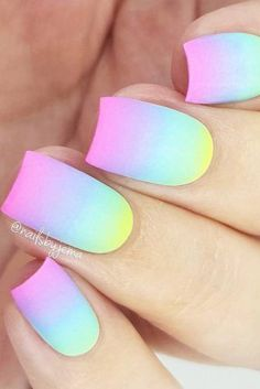40 elegant summer nail designs #summernaildesigns