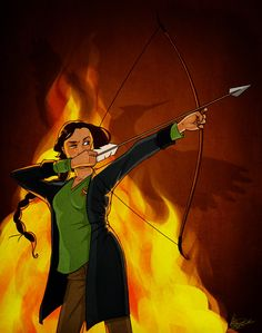 """Katniss, imagined as if she would have been drawn a Disney character. It's on a page of imagined, Disney-style drawings from """"The Hunger Games. The First Hunger Games, Hunger Games Catching Fire, Hunger Games Trilogy, Katniss Everdeen, Disney Style Drawing, Olympus Pen F, I Volunteer As Tribute, Disney Movies, Disney Characters"""