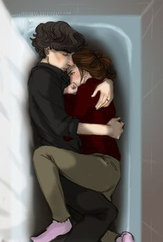 LOOK AT THIS ADORABLE SHERLOLLY PICTURE AND GO READ THE FANFIC BECAUSE IT GIVES ME HAPPY FEELS