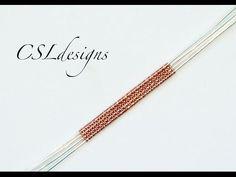 Herringbone wire weave ⎮ Wire weaving series - YouTube