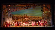 SET E SCENERY - L'elisir d'amore SCENOGRAFI_ LICHERI E CAPELLINI Opera buffa di Gaetano Donizetti, su libretto di Felice RomanI CON II ATTI E 19 scene.