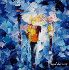 """""""Rain prince"""" by Leonid Afremov ___________________________ Click on the image to buy this painting ___________________________ #art #painting #afremov #wallart #walldecor #fineart #beautiful #homedecor #design"""