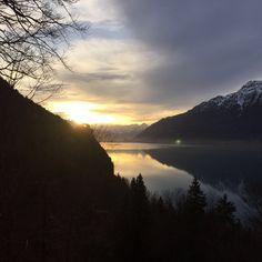 Amazing sunset on Lake Brienz.